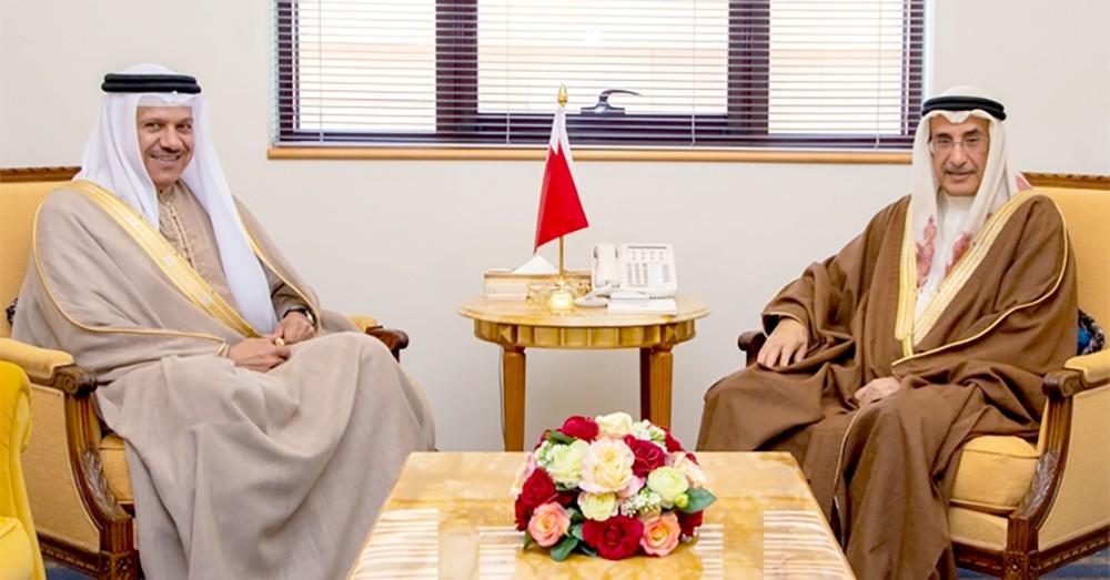 الشيخ خالد بن عبد الله يستقبل وزير الخارجية بمناسبة تعيينه في منصبه الجديد