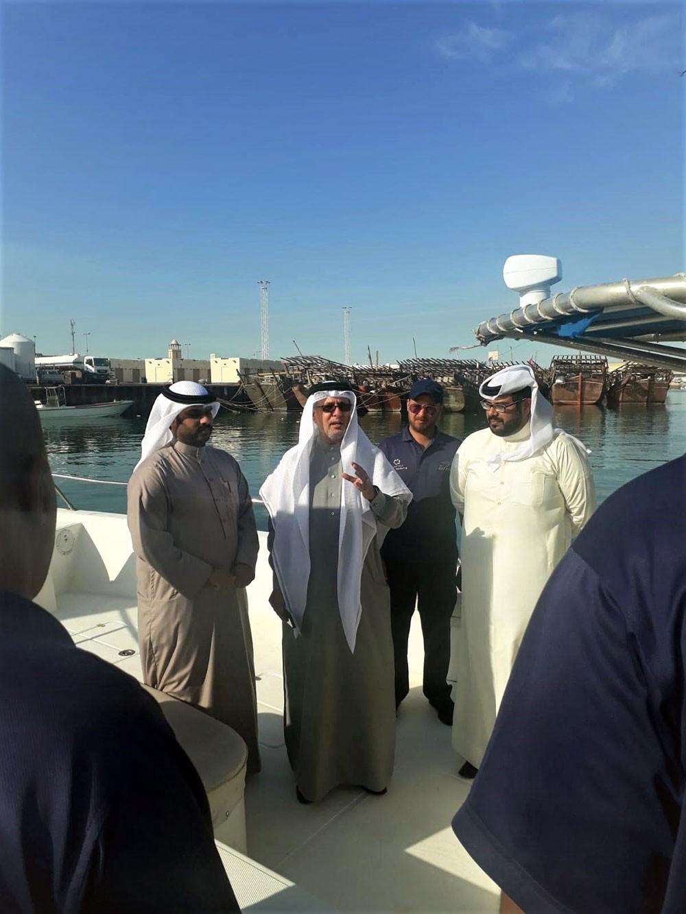 """أبوالفتح يتأكد من جاهزية فريق """"الرقابة البحرية""""... ويؤكد ضرورة الالتزام بالقانون"""