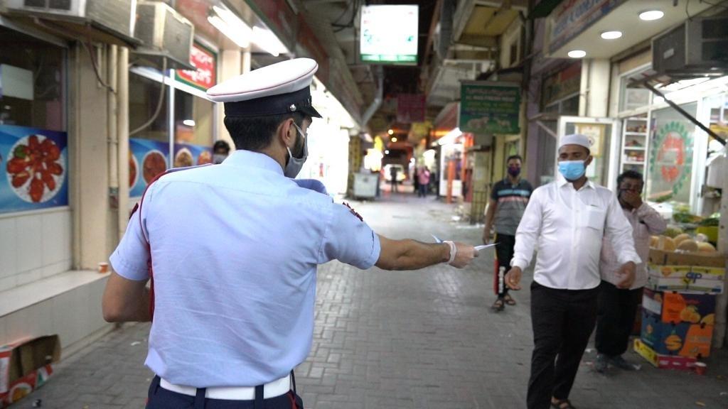 """شرطة المحرق : اتخاذ الإجراءات القانونية تجاه 282 شخصا لعدم التزامهم بــ """"كمامة الوجه"""""""