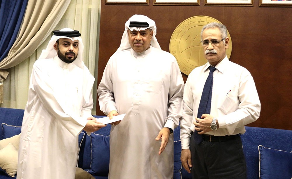 اتحاد السلة يكرم الحكم جابر عبدالله لانتهاء فترة عمله
