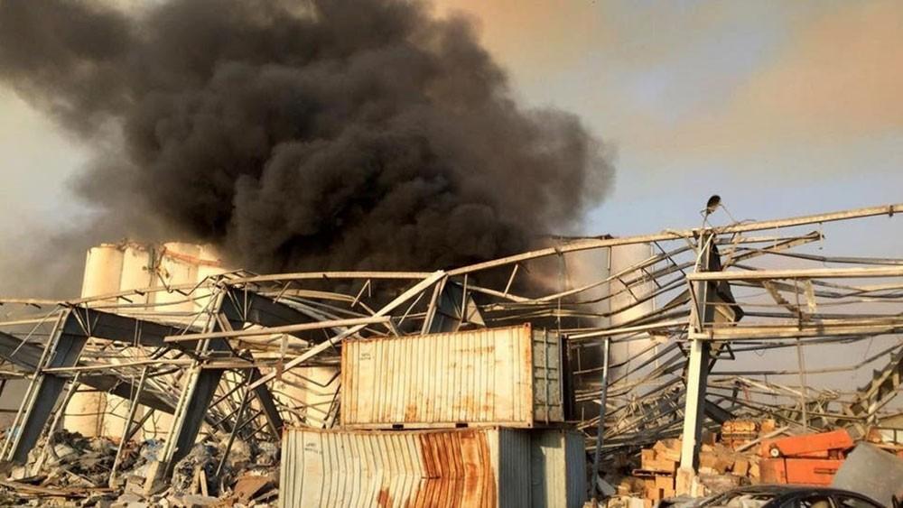 البحرين تعرب عن بالغ الأسى والأسف للانفجار المروع الذي وقع في مخزن قرب مرفأ بيروت