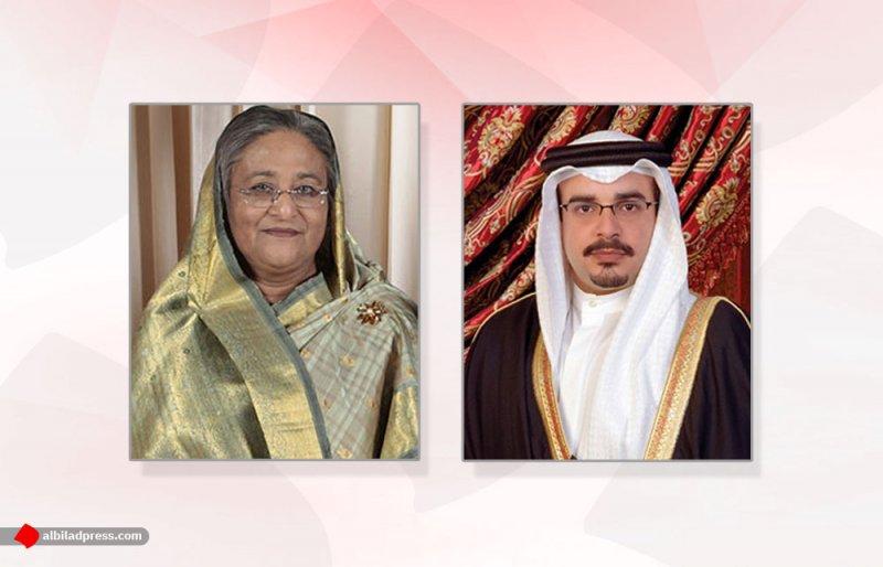 سمو ولي العهد يتلقى برقية تعزية من رئيسة وزراء بنغلاديش