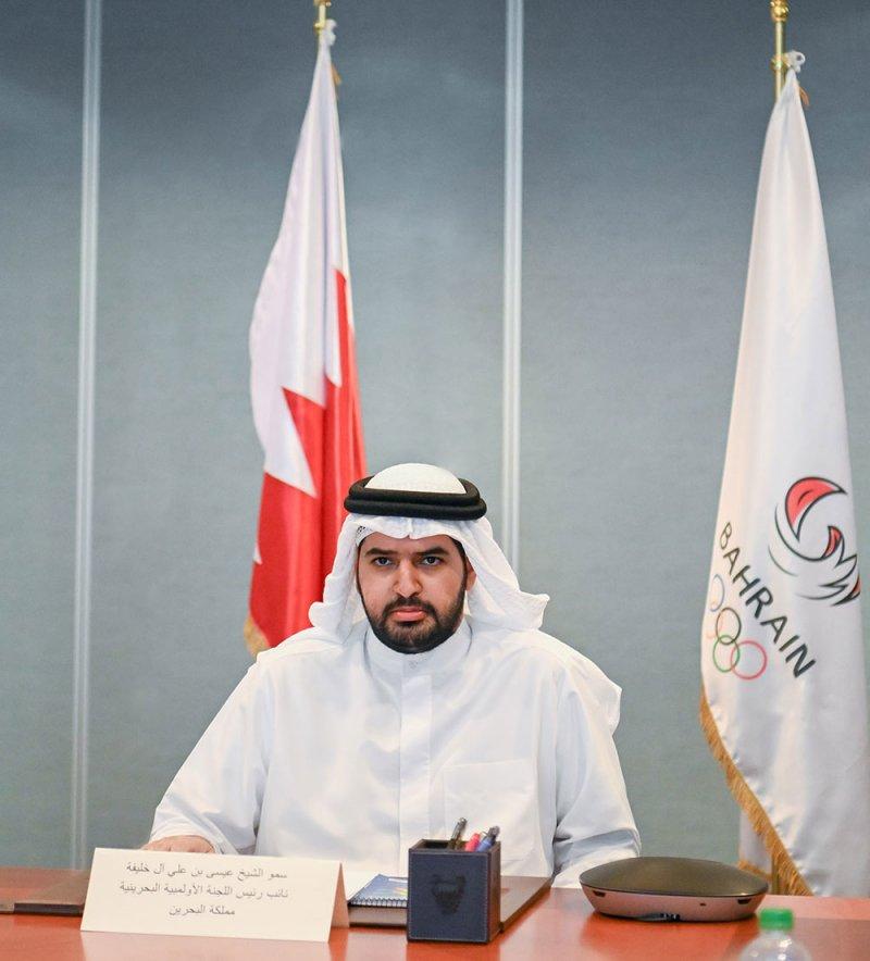 سمو الشيخ عيسى بن علي يترأس وفد البحرين باجتماع رؤساء اللجان الأولمبية الخليجية