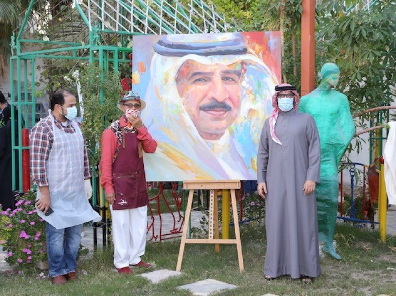 """بالصور: المؤيد يزور الفعالية الفنية """"شجرة الحياة"""" والتي تنظمها """"الشباب والرياضة"""""""