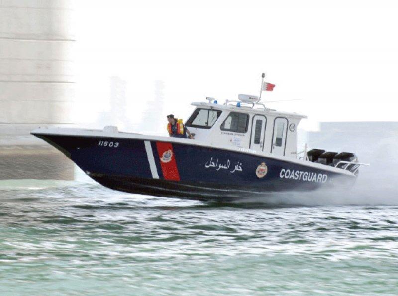 دوريات خفر السواحل تتمكن من إنقاذ ثلاثة أشخاص بحرينيين من الغرق