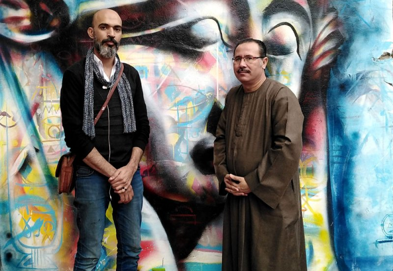 جدارية للفنان مصطفى الحلواجي تزين قرية مصرية