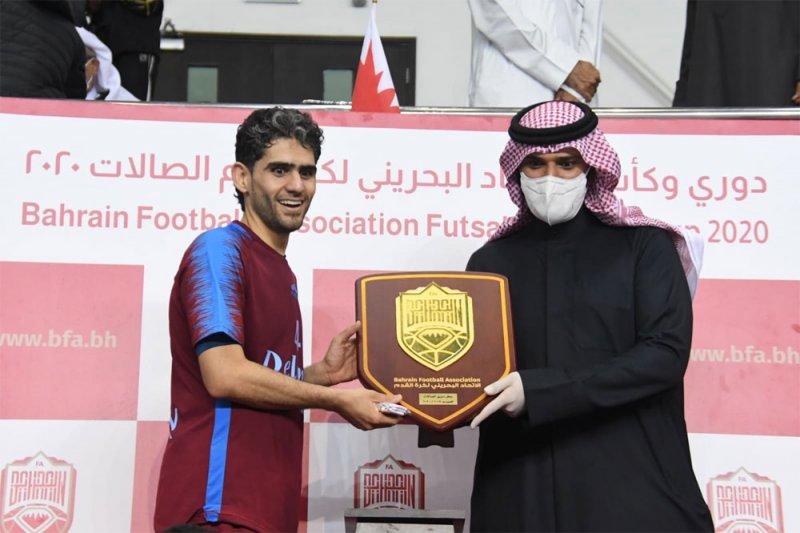بالصور: علي بن خليفة يتوج الشباب بطلاً لدوري الاتحاد لكرة الصالات 2020