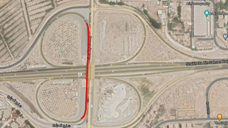 """""""شؤون الأشغال"""": غلق المسار الأيمن على كوبري الجسرة باتجاه المنامة"""
