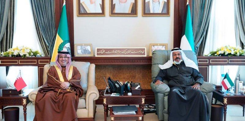 نائب رئيس الحرس الوطني بدولة الكويت يستقبل سفير مملكة البحرين في الكويت