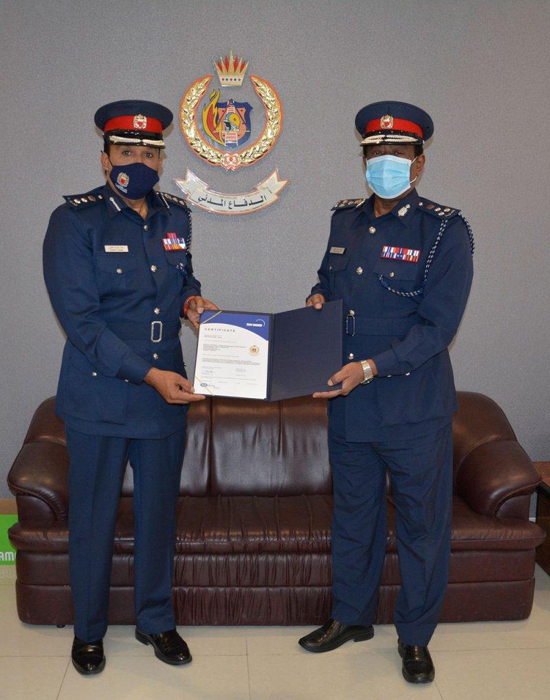 مدير عام الدفاع المدني يعرب عن اعتزازه بحصول إدارة الشئون الإدارية على شهادة الآيزو للمرة الثالثة