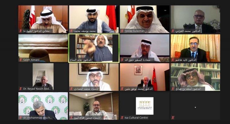 """بالصور: مركز عيسى الثقافي يستضيف ندوة """"النظام العالمي في ظل جائحة كورونا"""""""