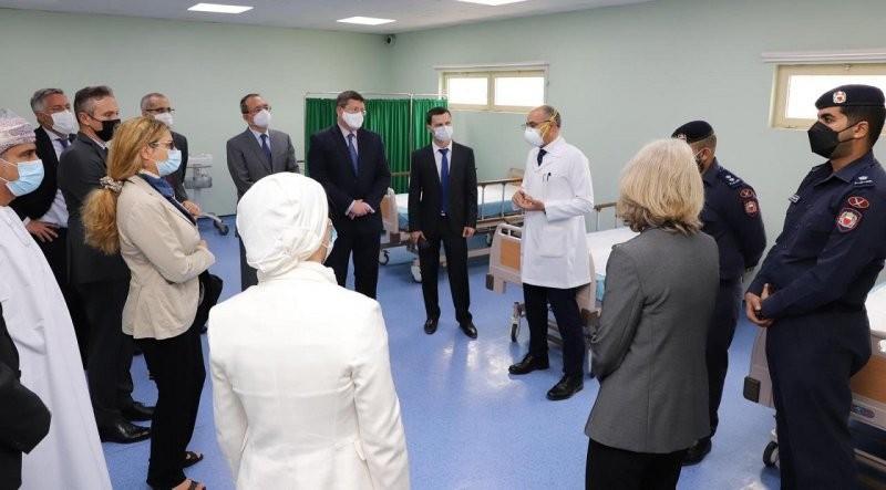 جانب من زيارة السفراء والدبلوماسيين إلى مركز الإصلاح والتأهيل