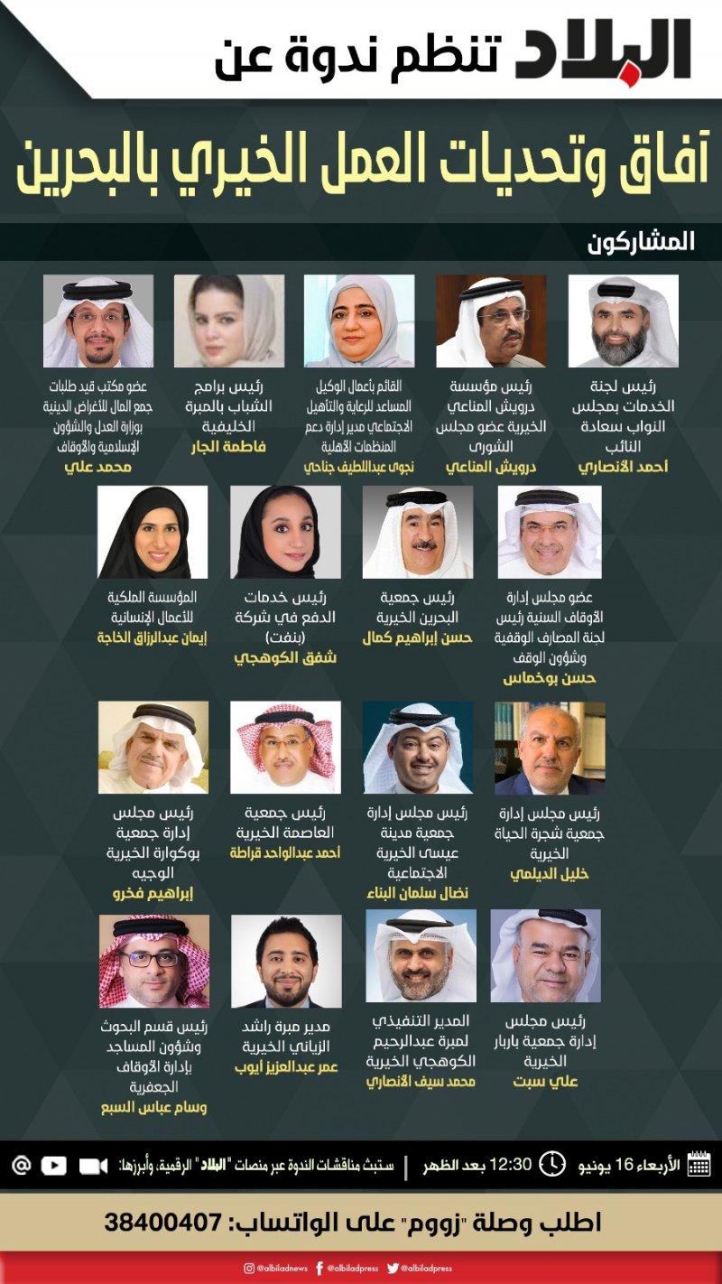 ندوة البلاد غدا تناقش آفاق وتحديات العمل الخيري في البحرين