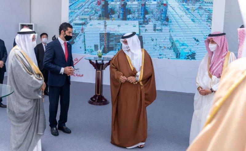 بالصور: سمو ولي العهد رئيس مجلس الوزراء يفتتح مشروع محطة الدور 2 لإنتاج الكهرباء والماء