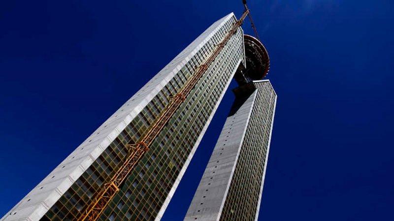 الانتهاء من بناء أطول ناطحة السحاب في الاتحاد الأوروبي