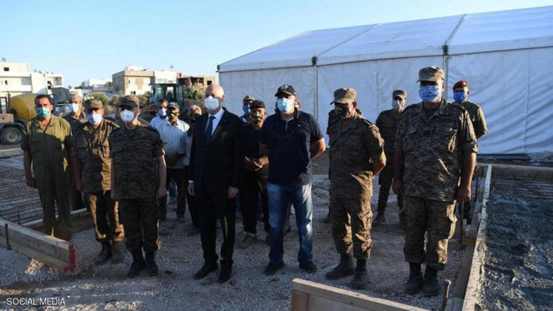 الرئيس التونسي قيس سعيد يصدر أوامره للجيش بإدارة أزمة كورونا