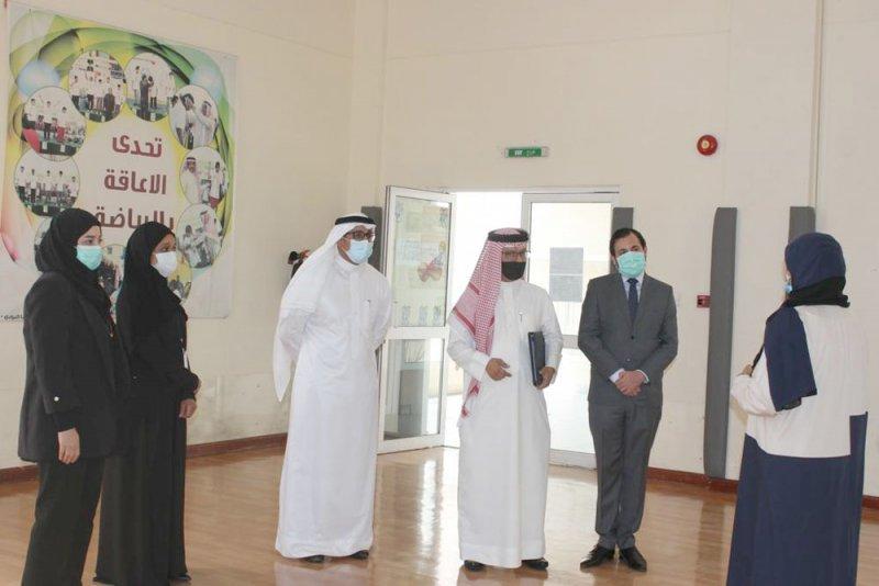 """""""الوطنية لحقوق الإنسان"""" تتزور دار بنك البحرين الوطني لتأهيل الأطفال المعوقين"""