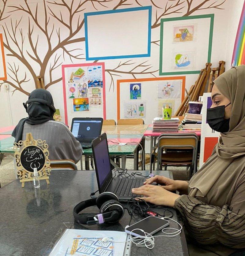 713 طالبة يتفاعلن مع مراكز البث الافتراضي بإعدادية عراد