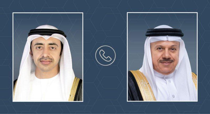 اتصال هاتفي بين وزير الخارجية ووزير الخارجية والتعاون الدولي بدولة الإمارات العربية المتحدة