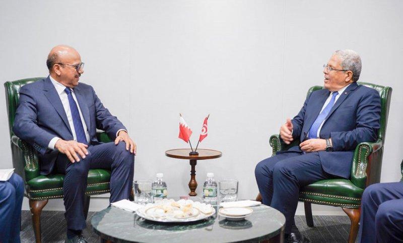 سعادة وزير الخارجية يجتمع مع وزير الشؤون الخارجية والهجرة والتونسيين بالخارج