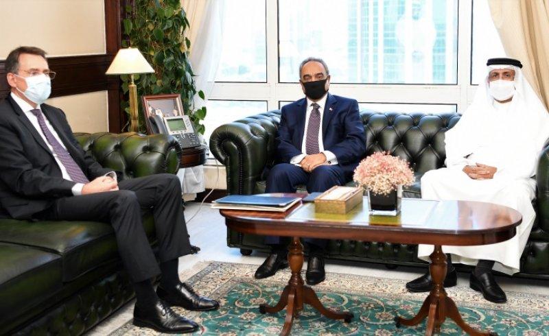وزير الأشغال يتلقى دعوة لحضور المنتدى العالمي الرابع عشر للأغذية والزراعة من السفير الألماني