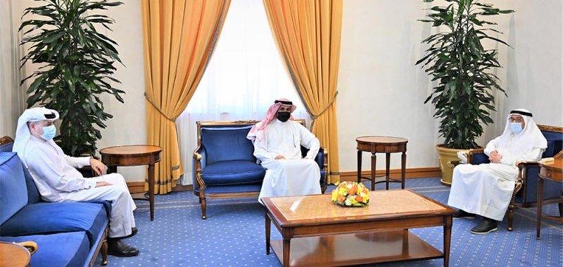 سمو الشيخ محمد بن مبارك يستقبل رئيس المجلس التنفيذي للاتحاد الحر لنقابات عمال البحرين