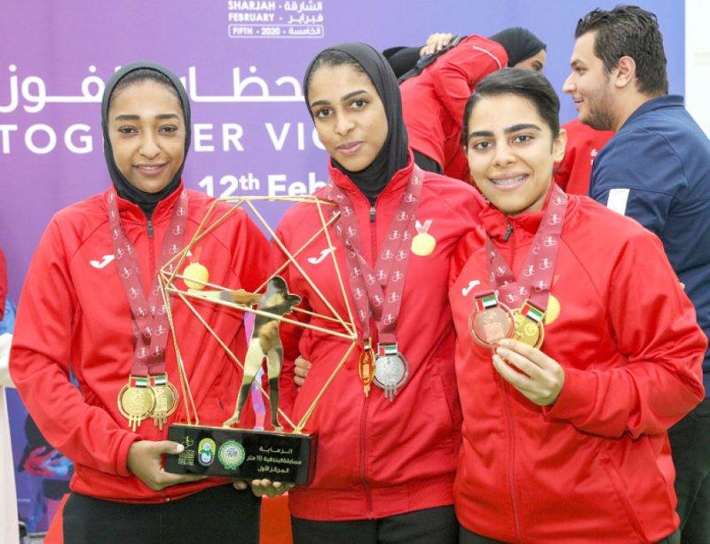 بندقيات البحرين تحصد الميداليات الثلاث وذهبية الفرق
