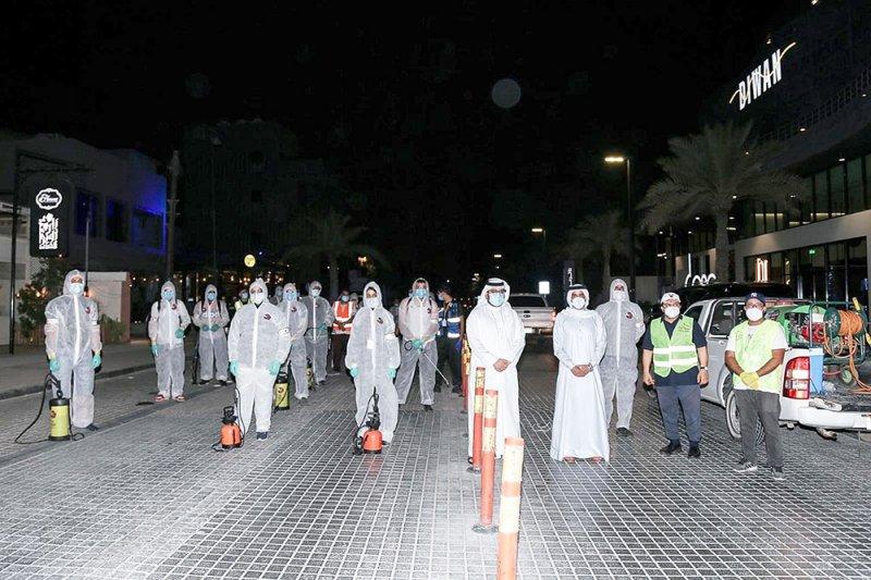تطهير شوارع العدلية بمشاركة 35 متطوعًا