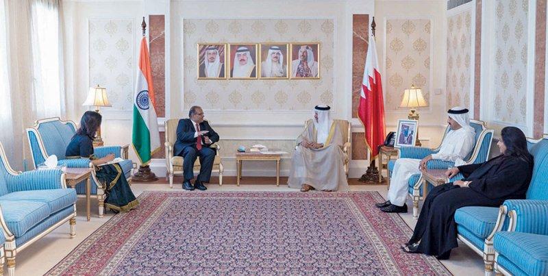 وزير الخارجية يتسلم أوراق اعتماد السفير الهندي